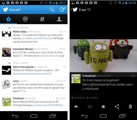 "Twitter app offers a streamlined interface style ""Holo UI."