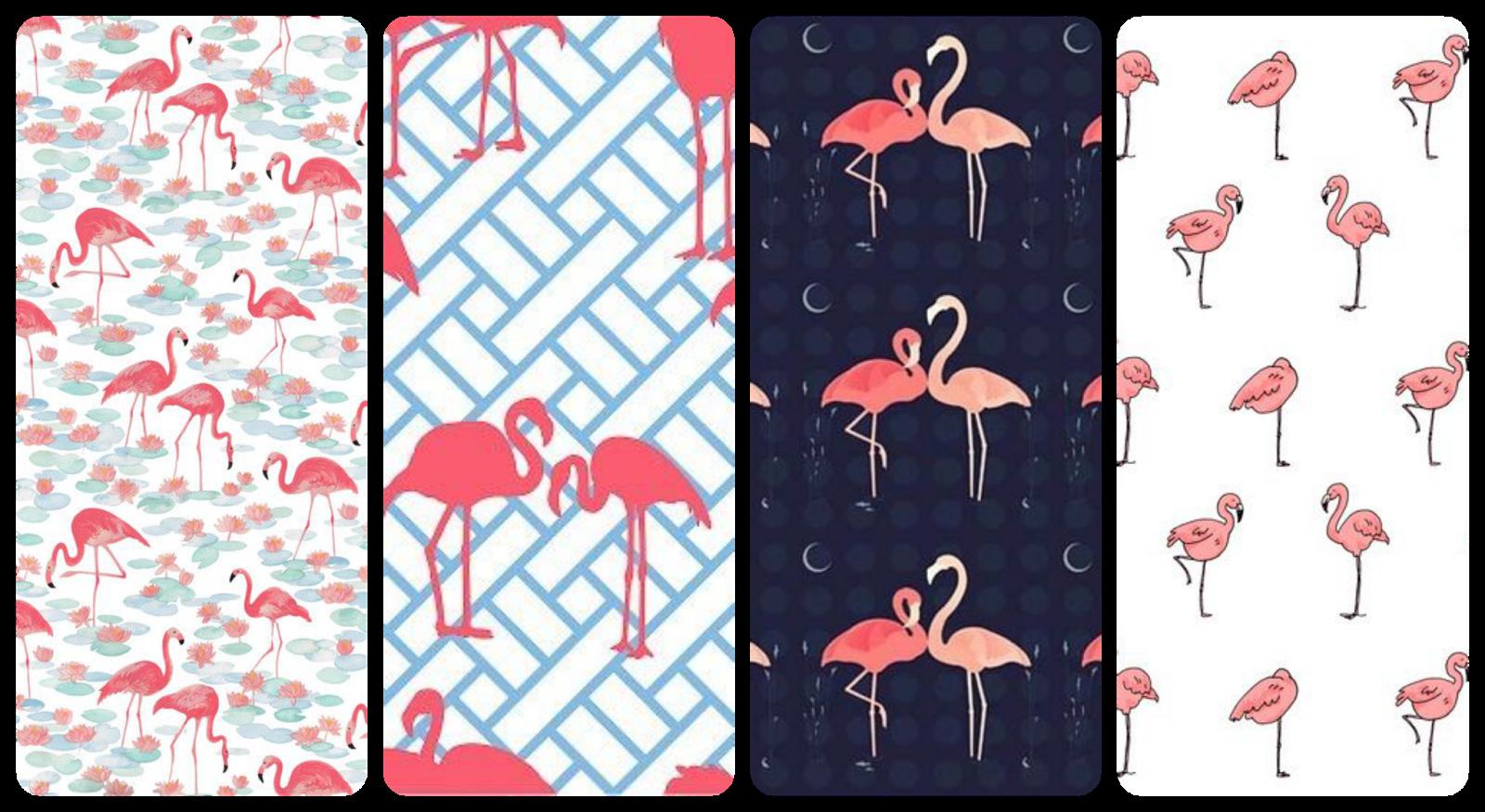 fondos chulos de pantalla para el móvil Iphone, android, samsung Vintage flamingos rosa pink