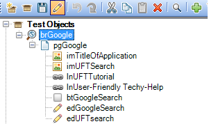 Object Repository view in Keyword Framework