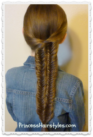 Double Fishtail Braid (Mermaid Braid) Hairstyle