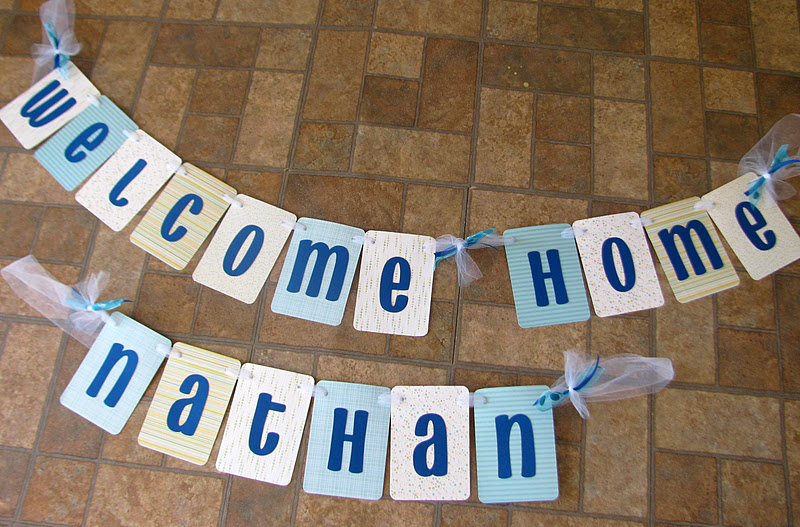 new baby boy welcome home banner for nathan