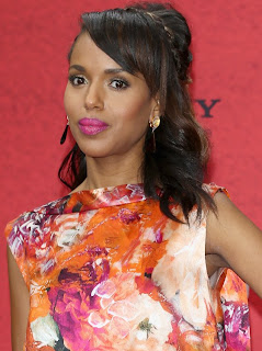 Kerry Washington In J Mendel Floral Gown