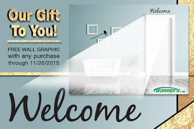 Free Welcome Wall Graphic with Purchase at Banners.com