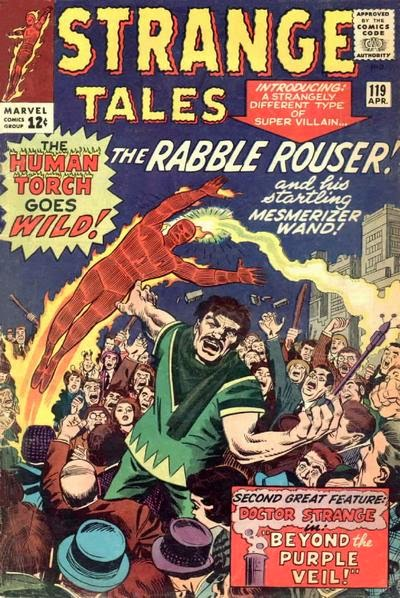 Strange Tales #119, the Human Torch vs the Rabble Rouser