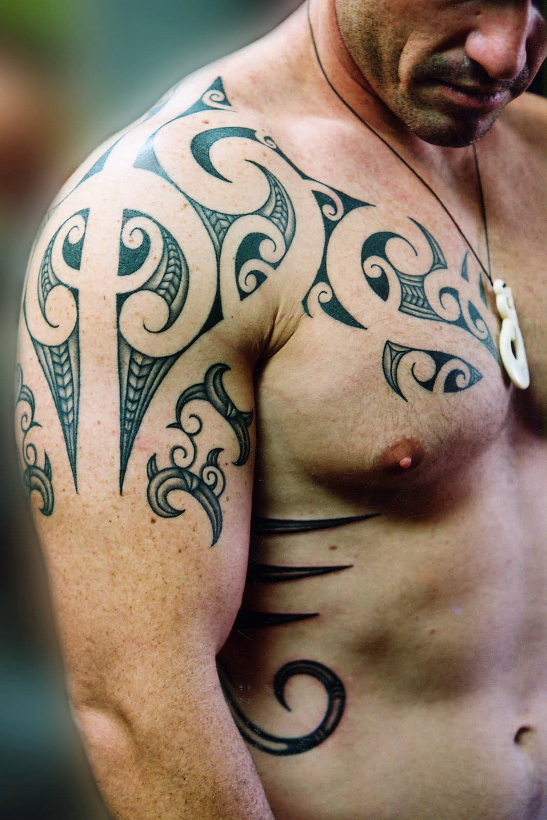 tattoo art: Chest Tattoos