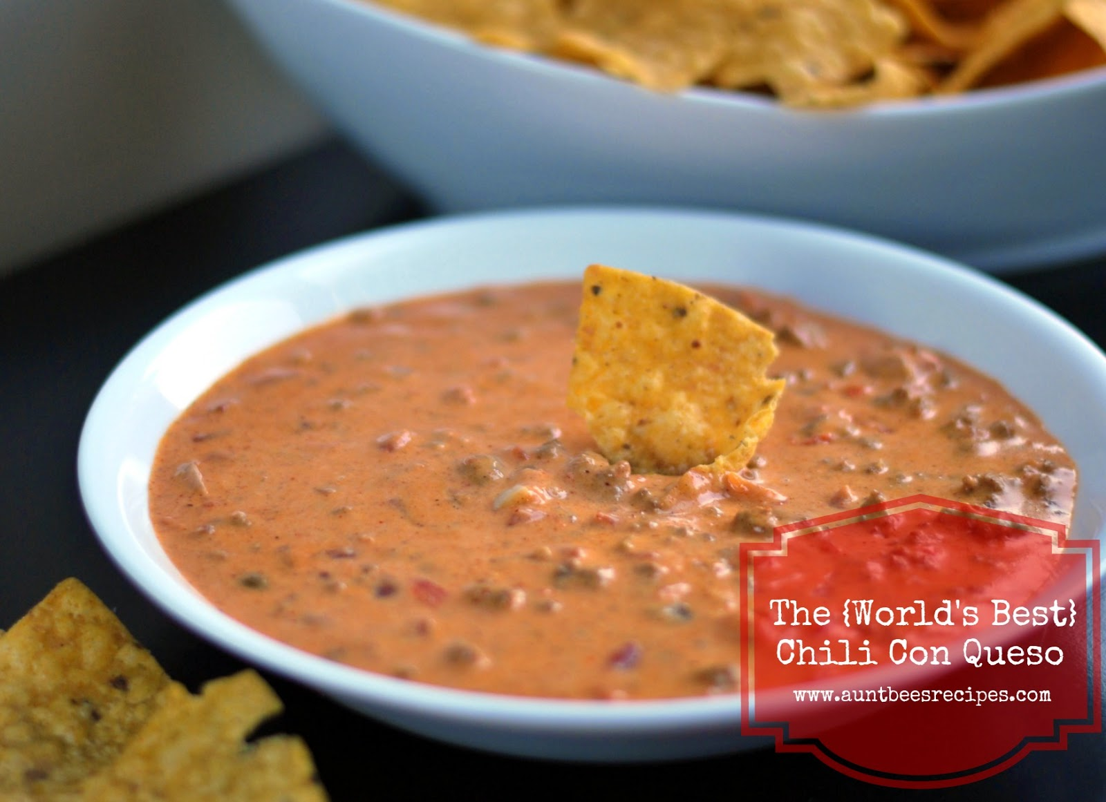 The {World's Best} Chili Con Queso | Aunt Bee's Recipes
