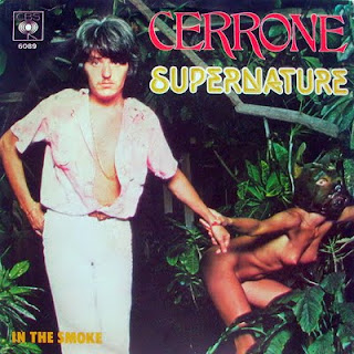 Jean-Marc Cerrone retratado en una de las portadas de su single Supernature de 1977