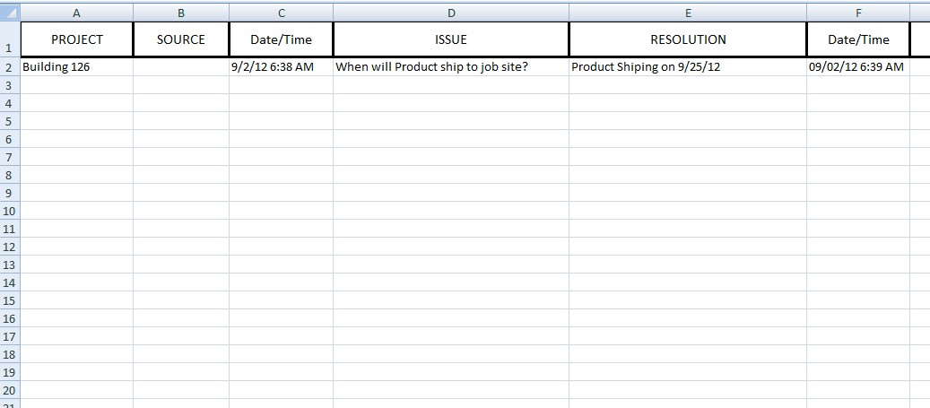 Here's the basic layout of the worksheet that needs the date/time ...