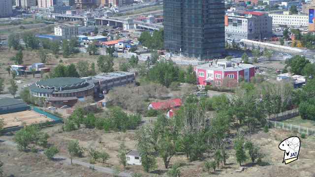 Overhead view of the Mongolia National Amusement Park