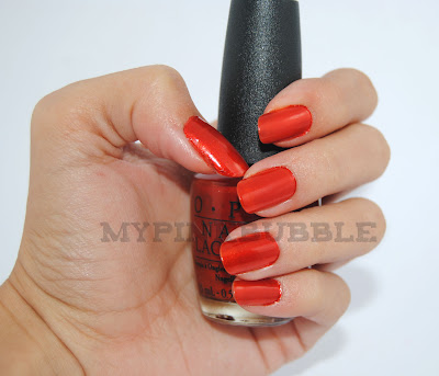 OPI Deutsch you want my baby swatch
