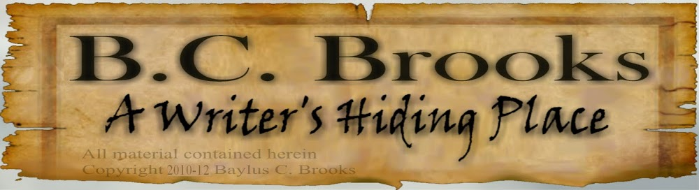 B.C. Brooks:  A Writer's Hiding Place
