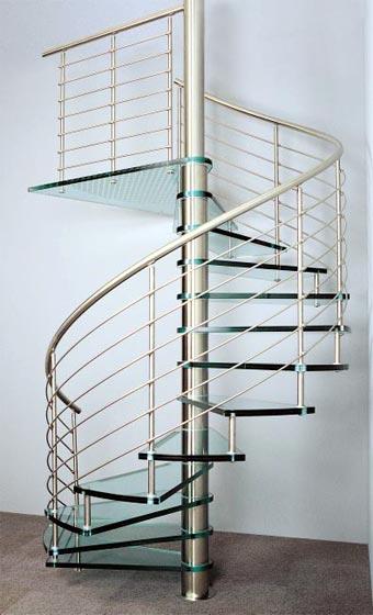 Tipos de escaleras para el interior de la casa cocinas for Como hacer una escalera caracol metalica