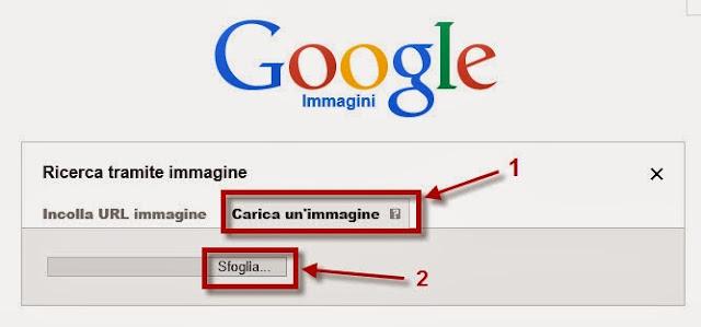 Carica immagine Google Immagini