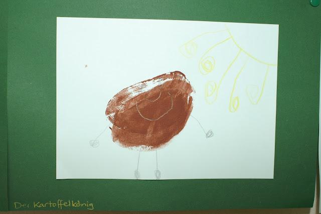 Stempeln im Kindergarten