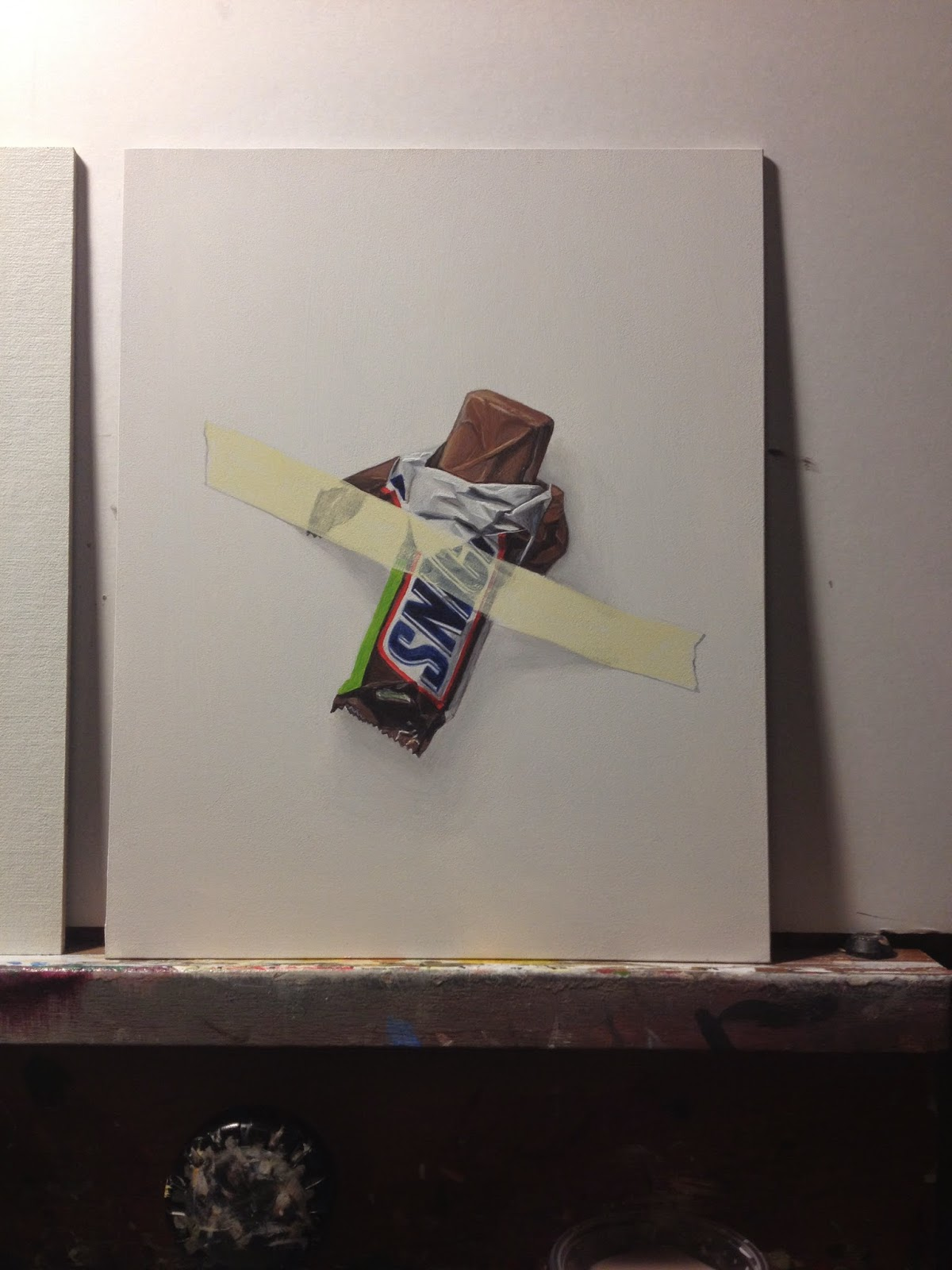 paintings by kim testone on the easel step by step photos of snickers chocolate candy bar. Black Bedroom Furniture Sets. Home Design Ideas