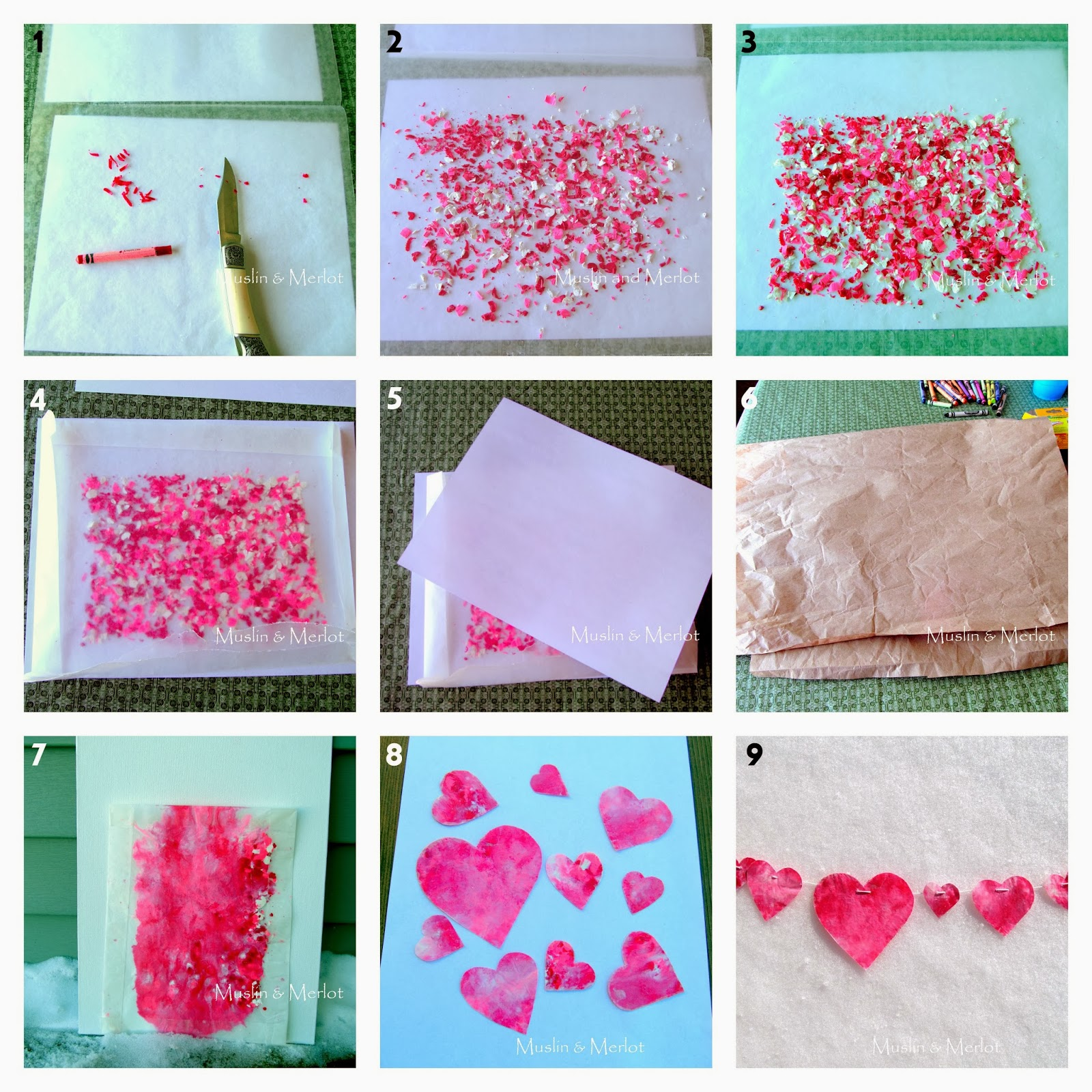 DIY Melted Crayon Hearts Tutorial