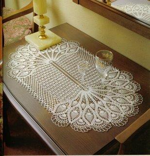 ... de julho de 2011 marcadores barrado caminho de mesa croche gráfico