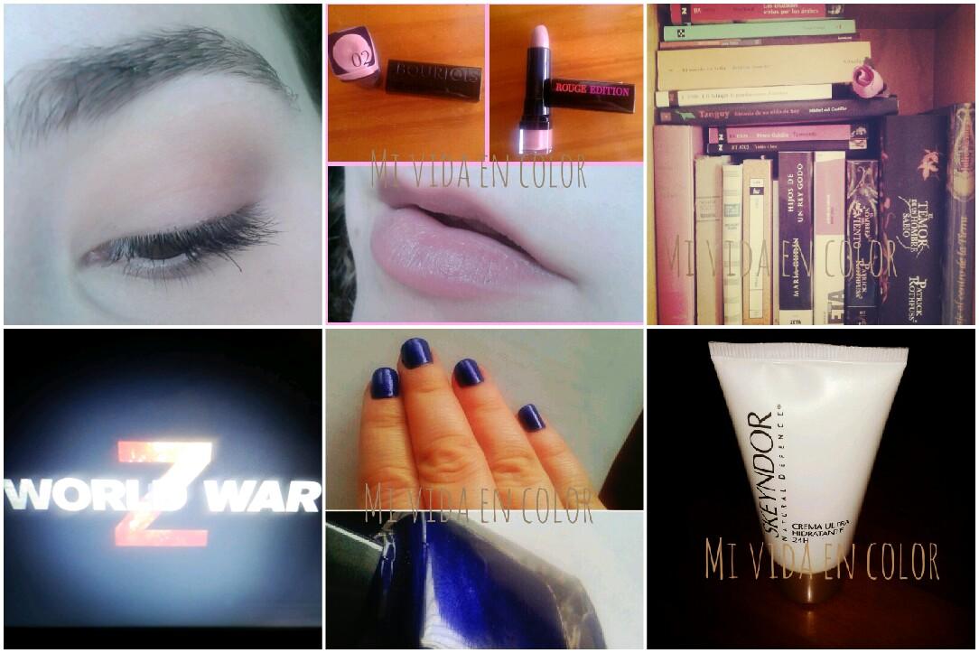my-month-on-pictures-october-13'-look-natual-nude-naked-pintalabios-bourjois-02-rouge-edition-libros-rosa-guerra-mundial-Z-uñas-de-la-semana-uñas-azules-crema-ultrahidratante-24h.-skeyndor