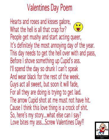 Funny Valentines Day Poems For Our Friends Valentine Jinni