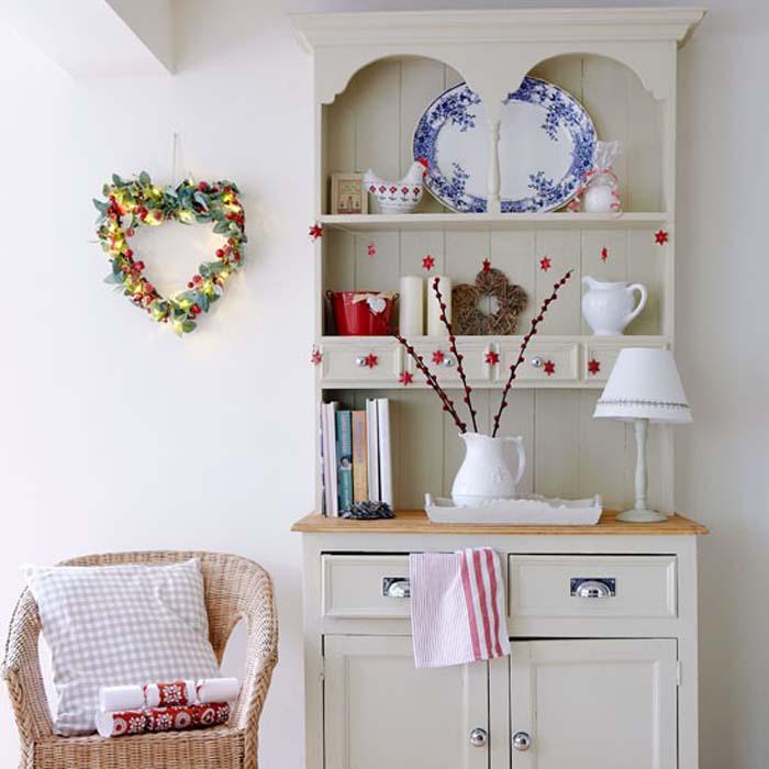 Country Kitchen Dresser: Keltainen Talo Rannalla: Rustiikkia Ja Joulua