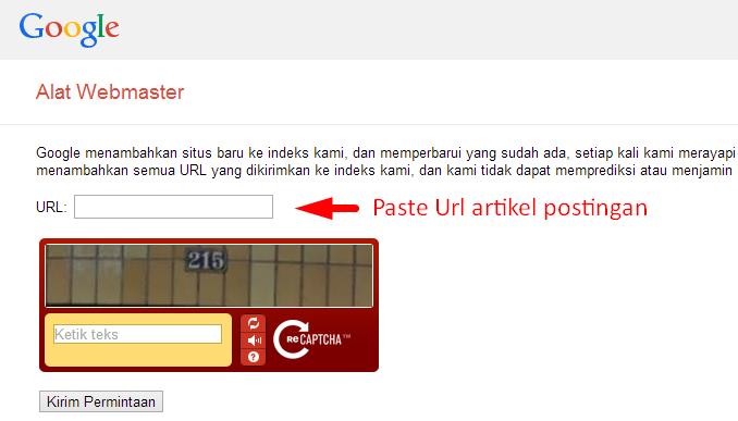 Cara penggunaan Google Add Url