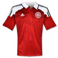 Euro 2012 Denmark Home Jersey
