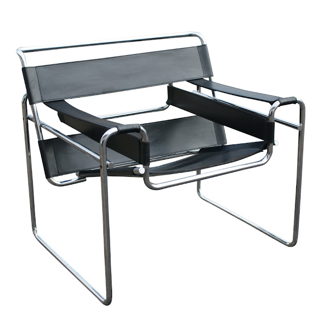 The Wassily Chair, also known as the Model B3 chair, was designed by Marcel Breuer in 1925-1926