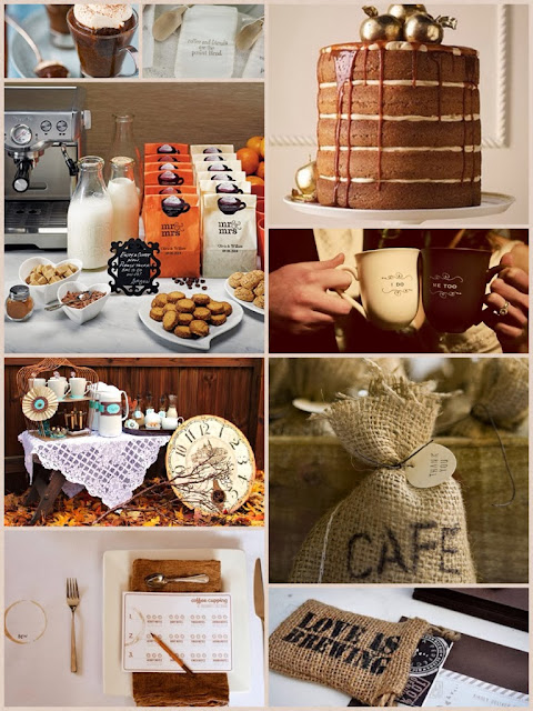 Coffee themed Inspiration Board