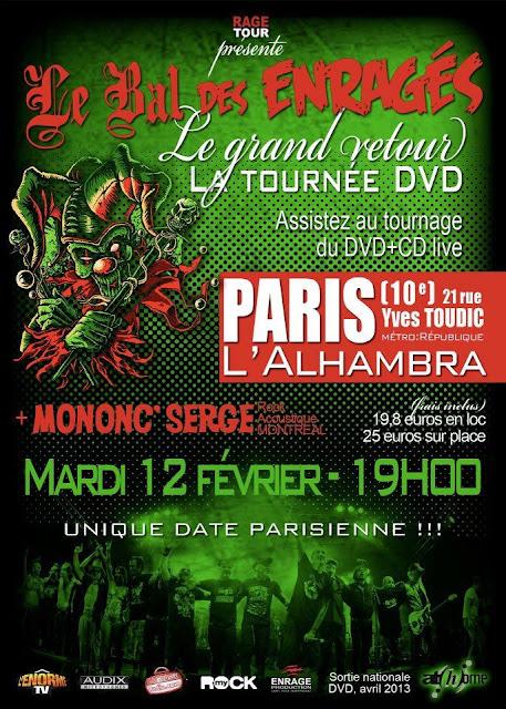Le Bal des Enragés / Mononc' Serge @ L'Alhambra, Paris 12/02/2013