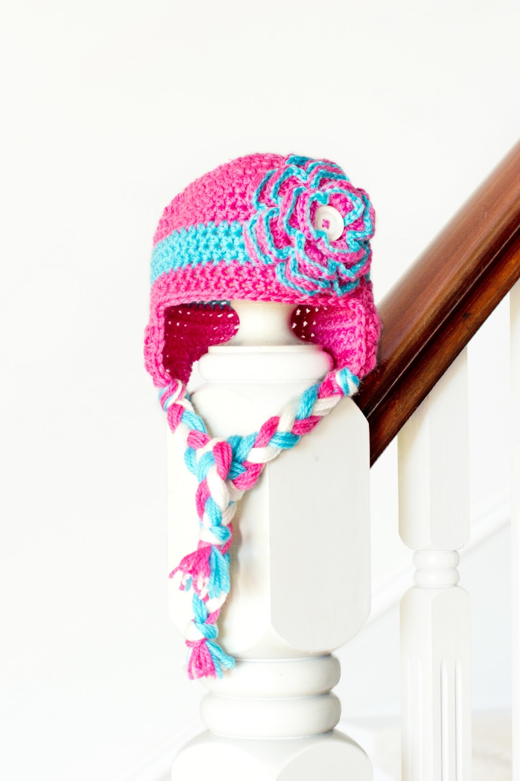 Free Crochet Earflap Hat Pattern Toddler : Hopeful Honey Craft, Crochet, Create: Floral Baby ...