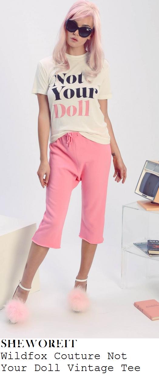louisa-johnson-not-your-doll-white-slogan-print-t-shirt
