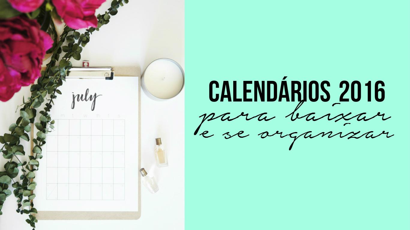 Calendário 2016 grátis