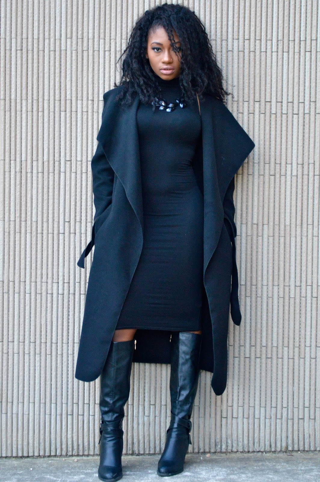 Back with another all black winter outfit which I\u0027m absolutely loving  because it is simple classy and chic.
