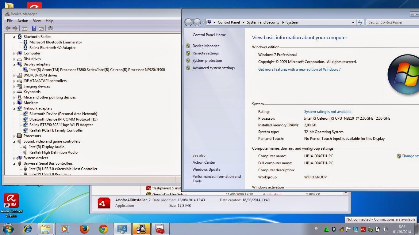 Sekian Tutorial Instalasi Windows 7 HP 14-D040TU
