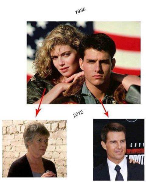 Tom Cruise Kelly McGillis Top Gun 1986 jjbjorkman.blogspot.com