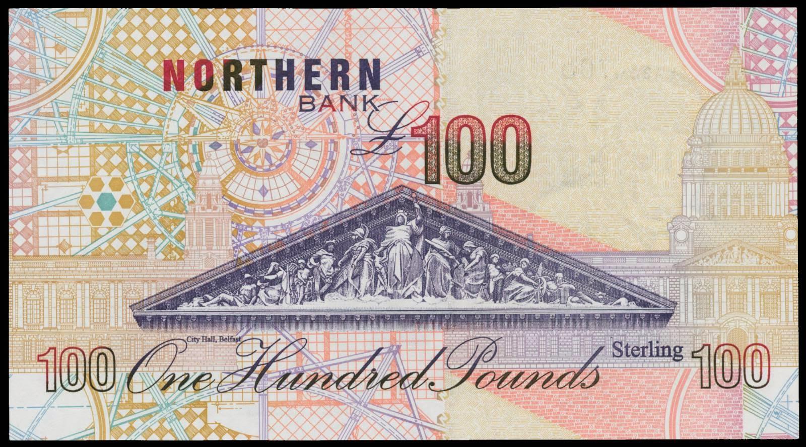 100 pound note 1999 northern bankworld banknotes amp coins