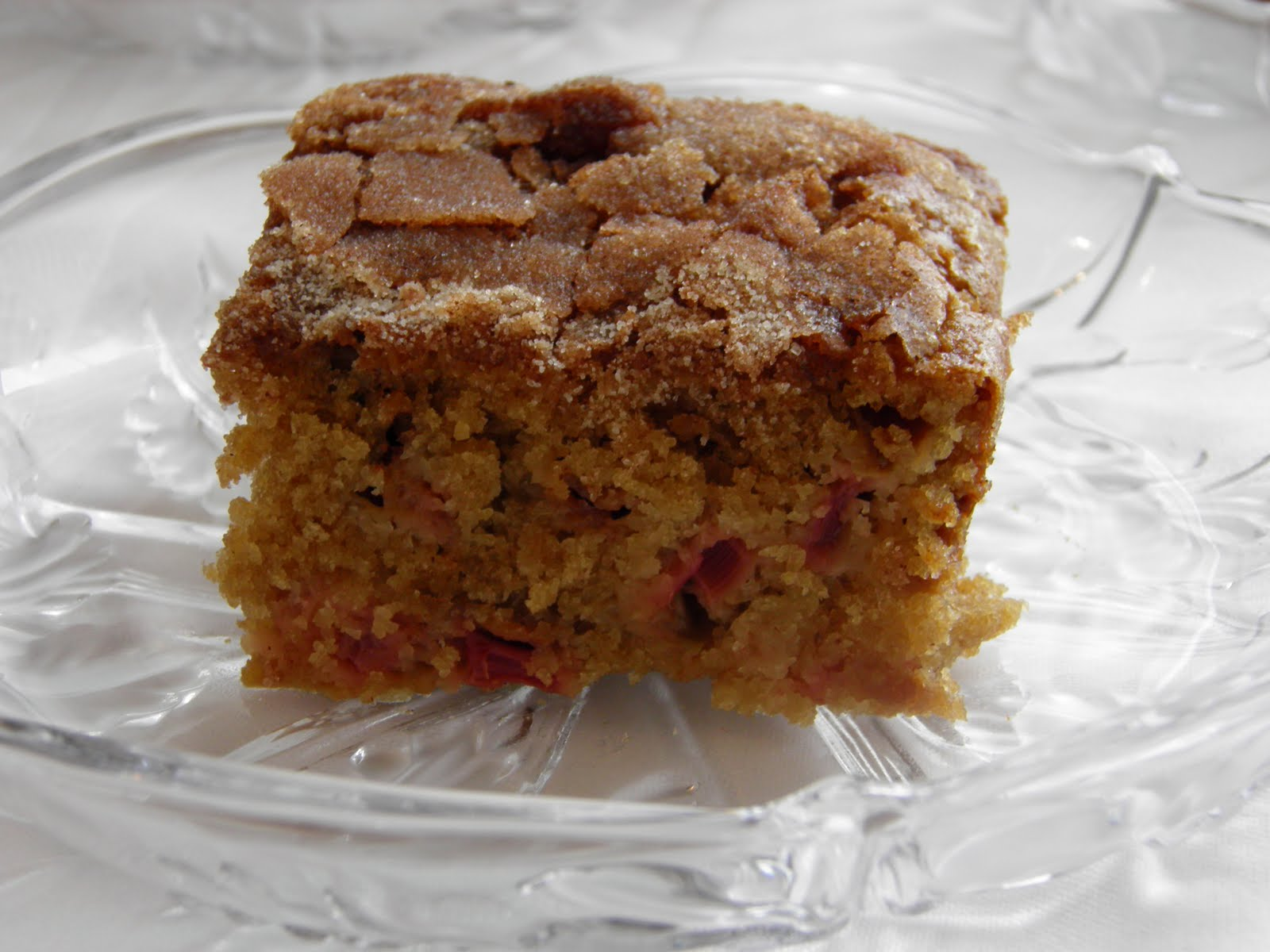 Rhubarb Cake Recipe — Dishmaps
