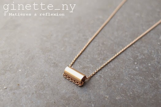 collier  Ginette_NY mini-straw or rose