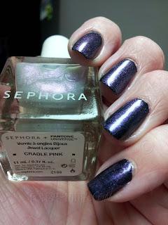 Pantone Universe + Sephora Cradle Pink over Black