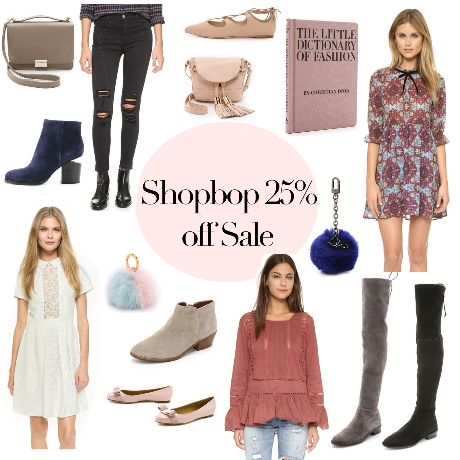 a pretty collage of sale items from shopbop.com , hand picked by a fashion blogger