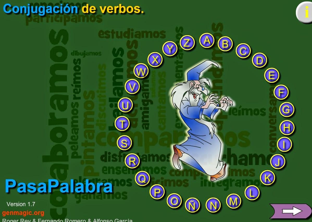 PASAPALABRA, CONJUGACIÓN DE VERBOS
