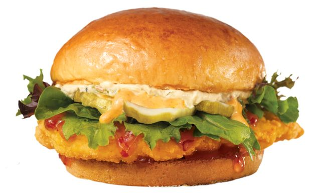 ... Sweet Thai Chili Chicken Sandwich with Green Chile Cream Cheese