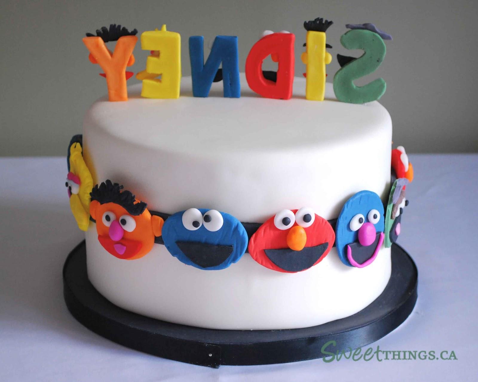 Cake Decorating Sesame Street Birthday : SweetThings: 2nd Birthday Cake: Sesame Street Cake