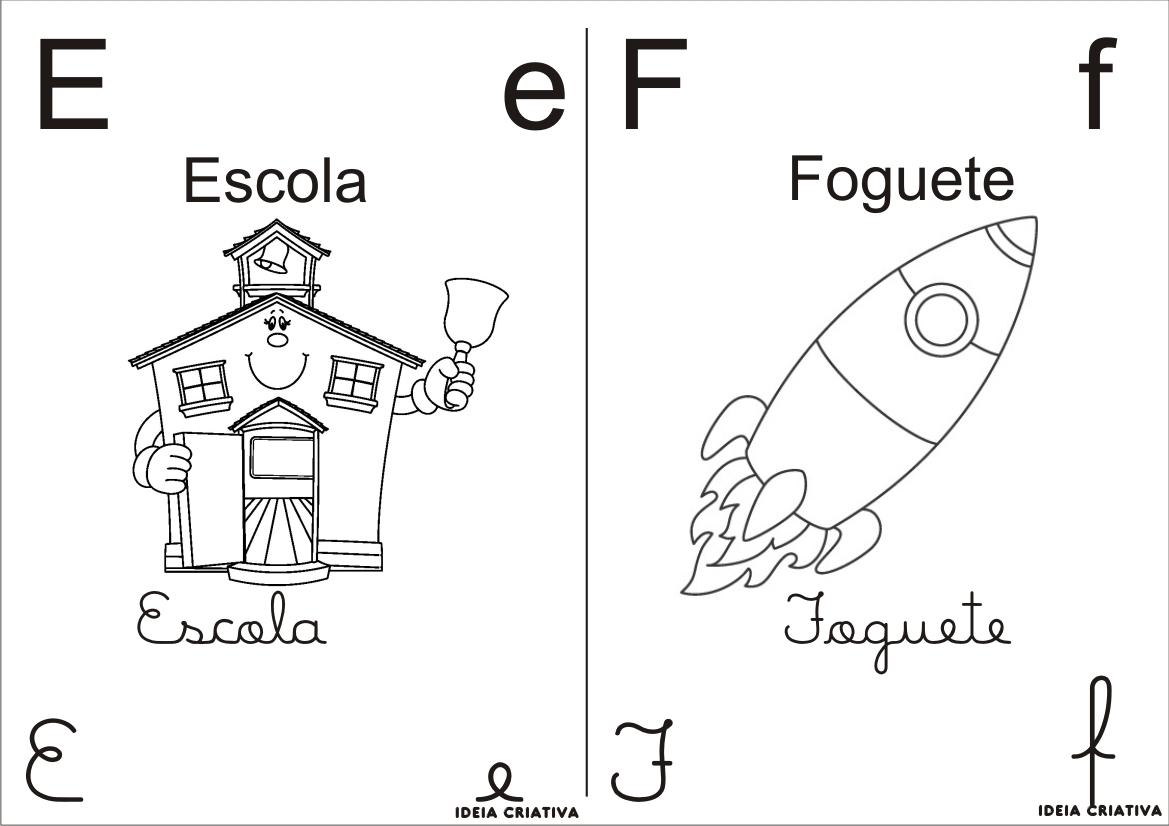 Desenho do Alfabeto Para Colorir