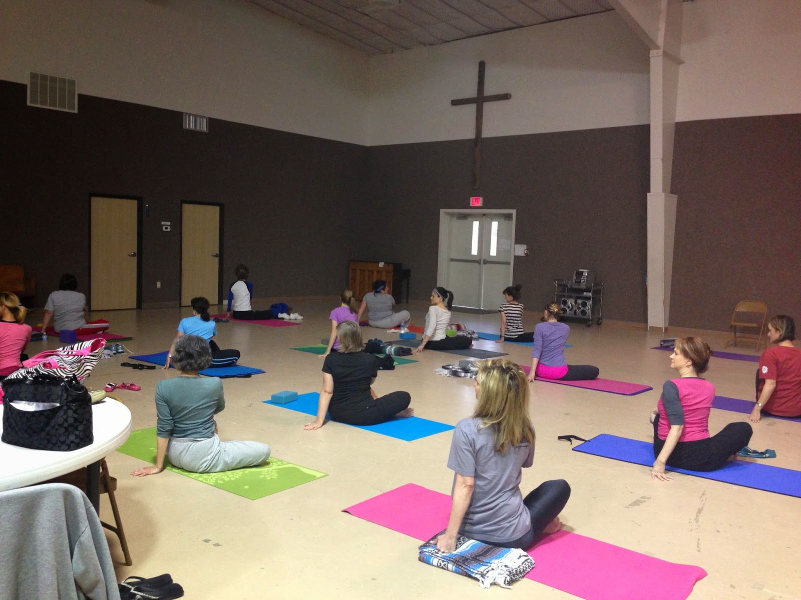Just $5 for Yoga at Wesley UMC Mondays-6:15pm, some Fridays-5:30pm