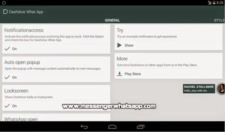 Tus mensajes en una burbuja con Dashdow What App