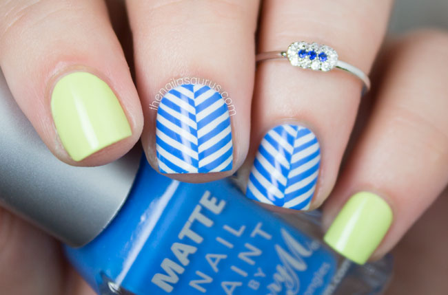 Nicole by OPI Lay it on the Lime Nail Art // The Nailasaurus