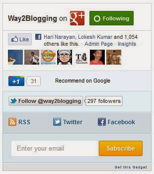 Social Subscription Widget