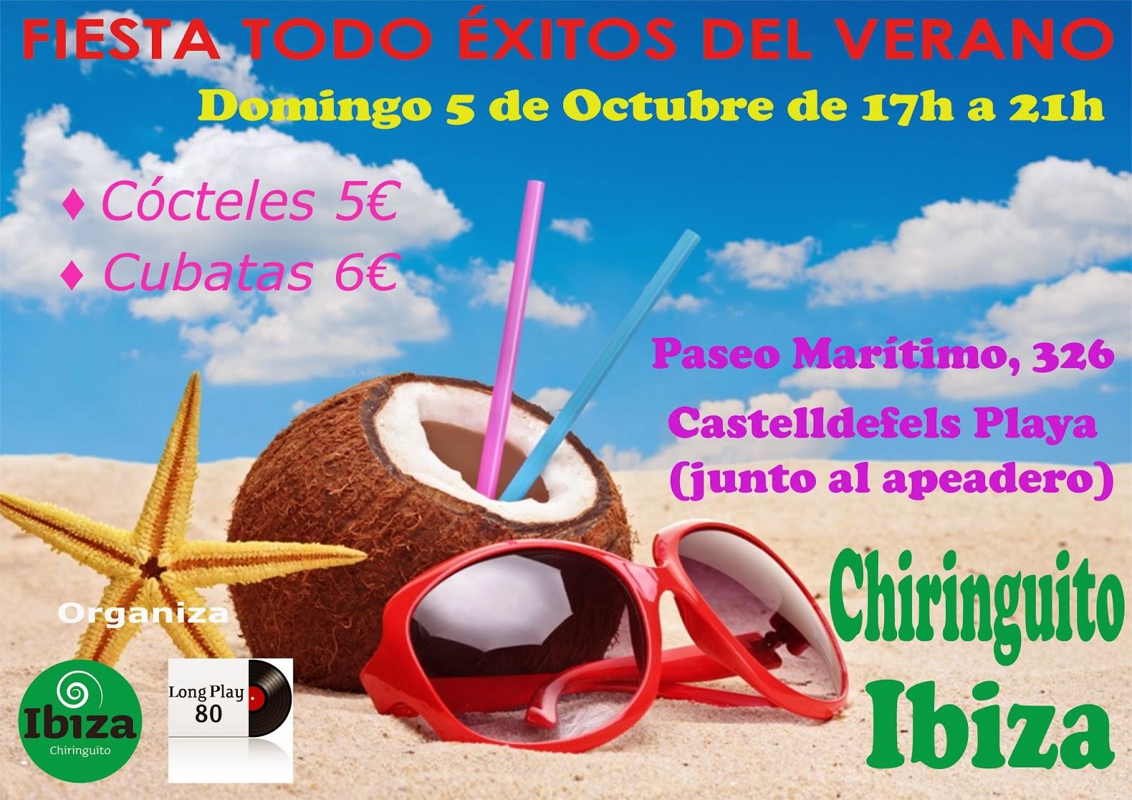 Flyer Fiesta Todo Éxitos del Verano (05/10/2014)