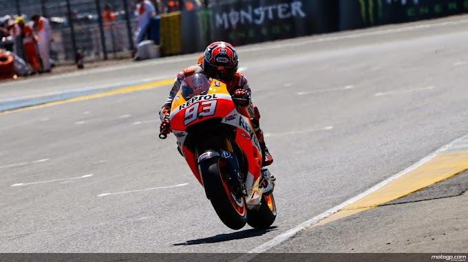 Kualifikasi MotoGP Le Mans 2014, Marc Sabet Pole Ke Lima